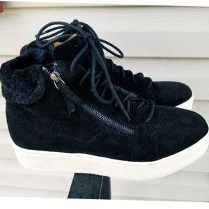Banana Republic Black  Suede  High top Sneakers